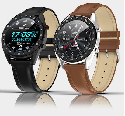 Black and Brown smart watches