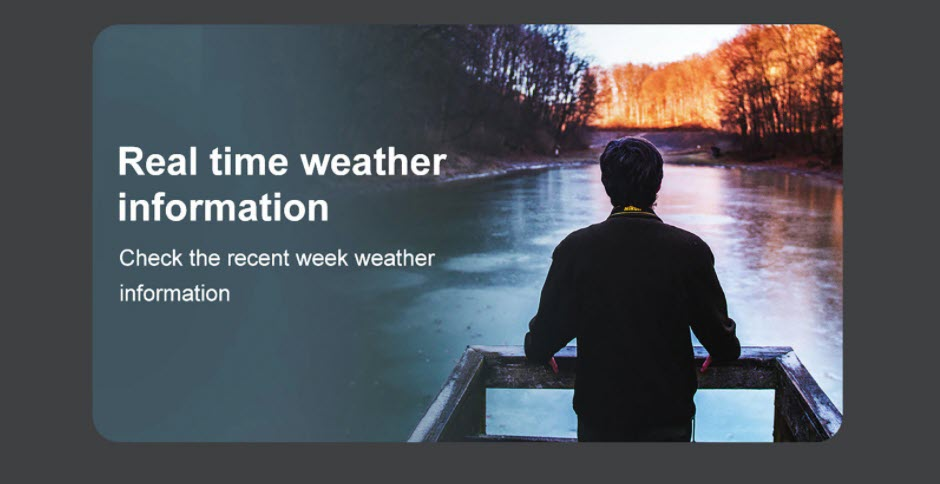 Outdoor watch weather forecast